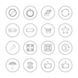 Modern social media buttons with soft shadow. Style Stock Illustration