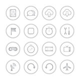 Modern social media buttons with soft shadow. Style Royalty Free Illustration