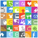 Modern social media color buttons Stock Image
