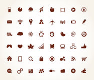 Modern social media icons Stock Images
