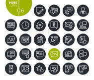 Modern social media and networking line icons set Royalty Free Stock Image