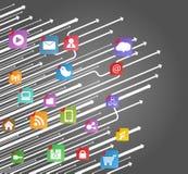 Modern social media scheme Stock Image