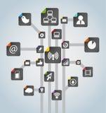 Modern social media scheme stock illustration