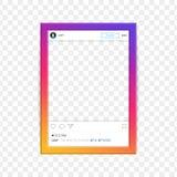 Modern social network photo frame vector. Stock Image