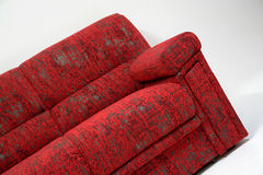 Modern sofa. Modernly designed sofa, covered with high quality red textile Stock Image