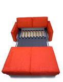 Modern sofa. Modernly designed, covered by high quality red textile. Including expandable mechanism Royalty Free Stock Photography