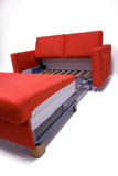 Modern sofa. Modernly designed, covered by high quality red textile. Including expandable mechanism Stock Photography