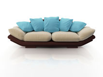 Modern sofa. Isolated on white background Stock Images