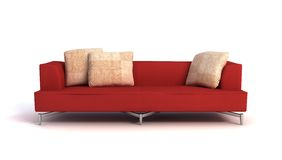 Modern sofa 3D rendering Stock Photo