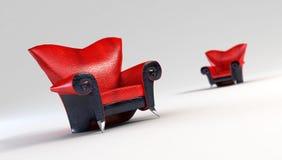 Modern sofa 3D rendering. Modern sofa 3D computer rendering stock illustration