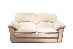 Modern sofa. Over white background Royalty Free Stock Photography
