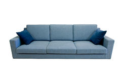 Modern sofa. Over white background Royalty Free Stock Photos