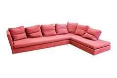 Modern sofa. Over white background Stock Photos