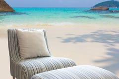 Modern sofa on the beach. Stock Photography