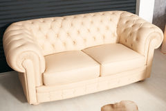 Modern sofa-bed furniture Royalty Free Stock Photography