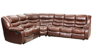 Modern sofa-bed furniture isolated Stock Photography