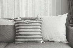 Modern sofa. Beige contemporary modern sofa with grey cushions Stock Photography