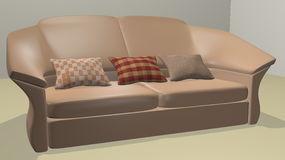 Modern sofa. Created in 3d Studio Max Royalty Free Stock Image