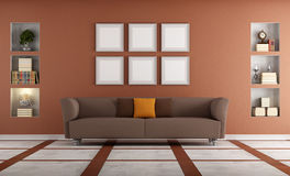 Modern sofa in a elegant interio Royalty Free Stock Image