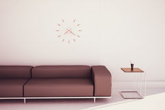 Modern sofa and end table Royalty Free Stock Images