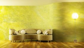 modern sofa för framförande 3d Fotografering för Bildbyråer