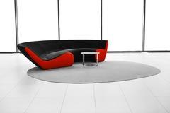 modern sofa för mattskrivbord Arkivbild