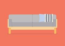Modern sofa flat style Royalty Free Stock Image