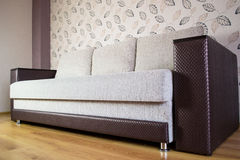 Modern sofa in an interior room view Royalty Free Stock Images
