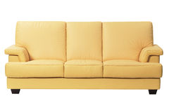 Modern sofa. Isolated on white background Stock Photography