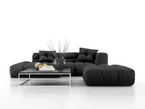 Modern sofa isolated on white background 3D rendering Stock Images