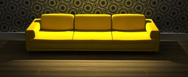 Modern sofa in living room Stock Image