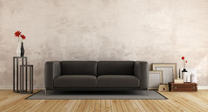 Modern sofa in a old room Royalty Free Stock Image