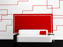 Modern sofa in the  room Royalty Free Stock Photography