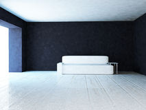 Modern sofa in the room, 3d Stock Photography