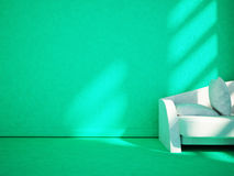 Modern sofa in the room, 3d. Rendering Royalty Free Stock Image