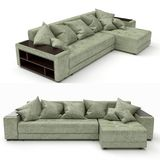 3D rendering. Modern sofa of simple shape Royalty Free Stock Image