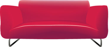Modern sofa with three seats Stock Image