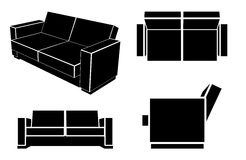 Modern Sofa Vector Illustration. Royalty Free Stock Image
