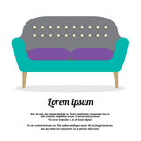 Modern Sofa Vintage Style Stock Photo