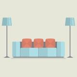 Modern Sofa Vintage Style Stock Image