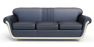 Modern sofa  on white background Royalty Free Stock Photography