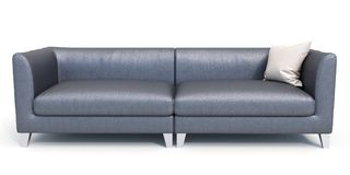 Modern sofa on white background. 3D illustration stock illustration