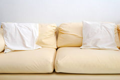 Modern Sofa With Cushions Stock Image