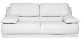 Modern soffa för vitt läder Royaltyfri Bild