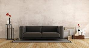 Modern soffa i ett gammalt rum vektor illustrationer