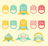 Modern soft color Design label. / can be used for infographics / numbered banners / horizontal cutout lines / graphic or website layout Royalty Free Stock Photos
