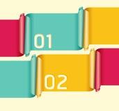 Modern soft color Design template royalty free illustration