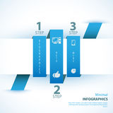 Modern soft color Design template. Can be used for infographics Royalty Free Stock Photography