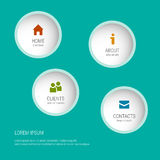 The Modern soft color Design template. Graphic or website layout vector. Sample icons. Royalty Free Stock Image