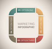 Modern soft color Design template / infographics Royalty Free Stock Photo